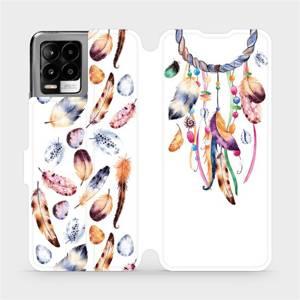 Flip pouzdro Mobiwear na mobil Realme 8 - M003S Lapač a barevná pírka