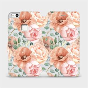 Flip pouzdro Mobiwear na mobil Huawei P10 Lite - MP02S Pastelové květy