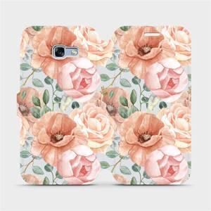 Flip pouzdro Mobiwear na mobil Samsung Galaxy A5 2017 - MP02S Pastelové květy