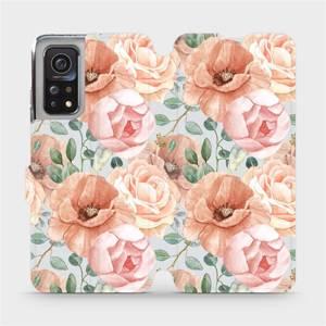 Flip pouzdro Mobiwear na mobil Xiaomi Mi 10T - MP02S Pastelové květy