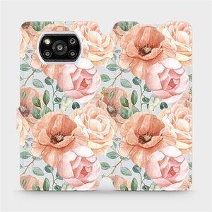 Flip pouzdro Mobiwear na mobil Xiaomi POCO X3 Pro - MP02S Pastelové květy