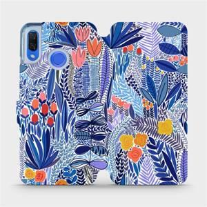 Flip pouzdro Mobiwear na mobil Huawei Nova 3 - MP03P Modrá květena