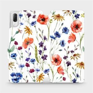Flip pouzdro Mobiwear na mobil Sony Xperia L3 - MP04S Luční kvítí