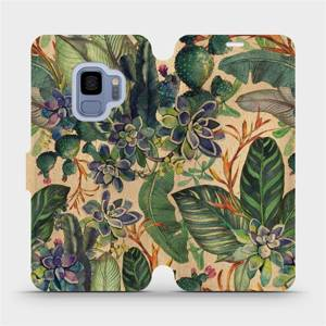 Flip pouzdro Mobiwear na mobil Samsung Galaxy S9 - VP05S Sukulenty
