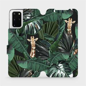 Flip pouzdro Mobiwear na mobil Samsung Galaxy S20 Plus - VP06P Žirafky