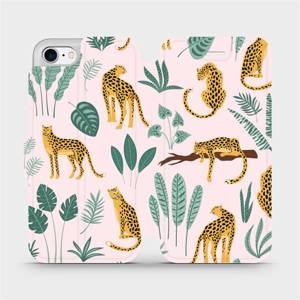 Flip pouzdro Mobiwear na mobil Apple iPhone 8 - MP07S Leopardi
