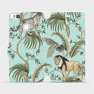 Flip pouzdro Mobiwear na mobil Huawei P9 Lite - MP08S Dvě kočičky