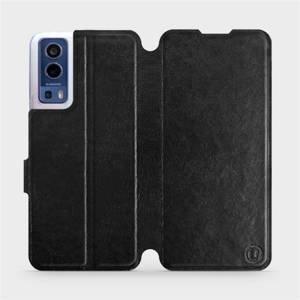 Flip pouzdro Mobiwear na mobil Vivo Y72 5G / Vivo Y52 5G v provedení C_BLS Black&Gray s šedým vnitřkem