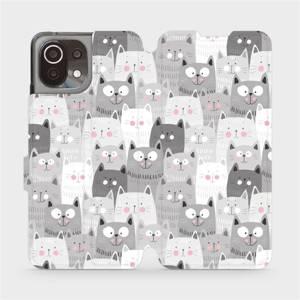 Flip pouzdro Mobiwear na mobil Xiaomi 11 Lite 5G NE - M099P Kočičky
