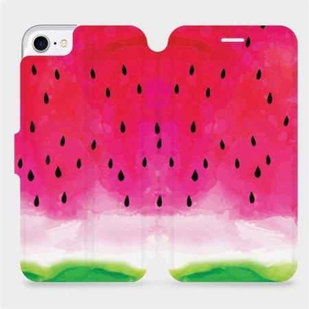 Flipové pouzdro Mobiwear na mobil Apple iPhone 8 - V086S Melounek