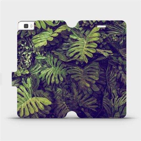 Flipové pouzdro Mobiwear na mobil Huawei P8 Lite - V136P Zelená stěna z listů