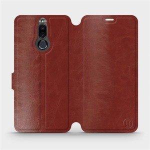 Parádní flip pouzdro Mobiwear na mobil Huawei Mate 10 Lite v provedení C_BRP Brown&Orange s oranžovým vnitřkem