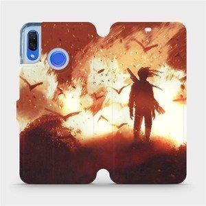 Flipové pouzdro Mobiwear na mobil Huawei Nova 3 - MA06S Postava v ohni