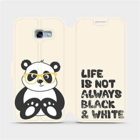 Flipové pouzdro Mobiwear na mobil Samsung Galaxy A3 2017 - M041S Panda - life is not always black and white