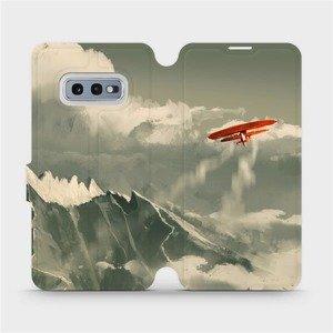 Flipové pouzdro Mobiwear na mobil Samsung Galaxy S10e - MA03P Oranžové letadlo v horách