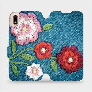 Flipové pouzdro Mobiwear na mobil Huawei Y5 2019 - MD05P Džínové květy