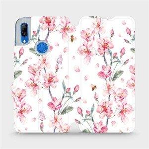 Flipové pouzdro Mobiwear na mobil Huawei P Smart Z - M124S Růžové květy