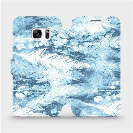 Flipové pouzdro Mobiwear na mobil Samsung Galaxy S7 - M058S Světle modrá horizontální pírka