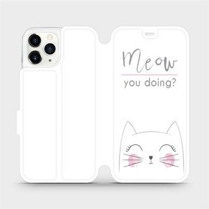 Flipové pouzdro Mobiwear na mobil Apple iPhone 11 Pro - M098P Meow you doing?