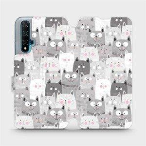 Flipové pouzdro Mobiwear na mobil Huawei Nova 5T - M099P Kočičky