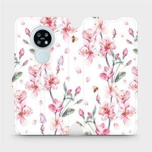 Flipové pouzdro Mobiwear na mobil Nokia 6.2 - M124S Růžové květy