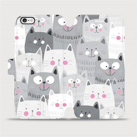 Flipové pouzdro Mobiwear na mobil Apple iPhone 6 / iPhone 6s - M099P Kočičky