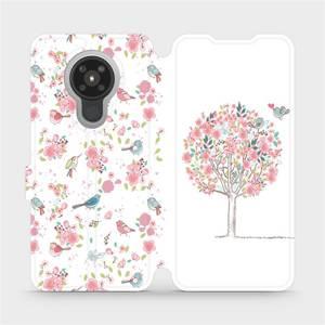 Flipové pouzdro Mobiwear na mobil Nokia 5.3 - M120S Strom a ptáčci