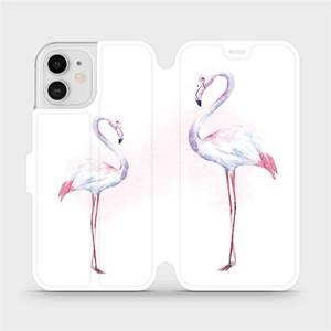Flipové pouzdro Mobiwear na mobil Apple iPhone 12 - M005S Plameňáci