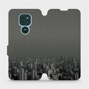 Flipové pouzdro Mobiwear na mobil Motorola Moto G9 Play - V063P Město v šedém hávu