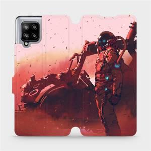 Flipové pouzdro Mobiwear na mobil Samsung Galaxy A42 5G - MA09S Průzkumník s červeným vozítkem