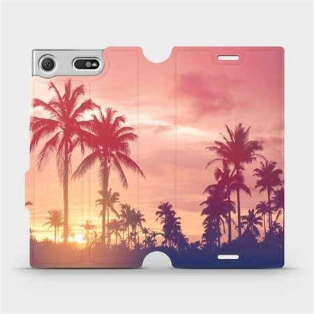 Flipové pouzdro Mobiwear na mobil Sony Xperia XZ1 Compact - M134P Palmy a růžová obloha