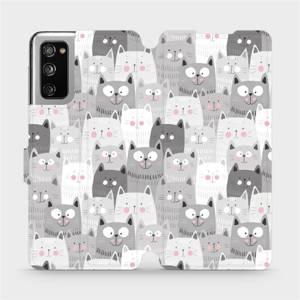 Flipové pouzdro Mobiwear na mobil Samsung Galaxy S20 FE - M099P Kočičky