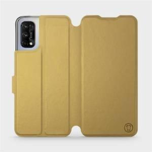 Flipové pouzdro Mobiwear na mobil Realme 7 5G v provedení C_GOS Gold&Gray s šedým vnitřkem