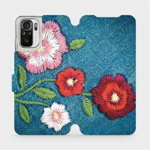 Flipové pouzdro Mobiwear na mobil Xiaomi Redmi Note 10S - MD05P Džínové květy