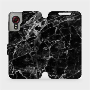 Flipové pouzdro Mobiwear na mobil Samsung Galaxy Xcover 5 - V056P Černý mramor