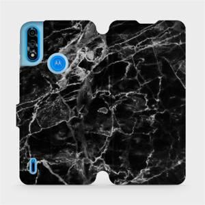 Flipové pouzdro Mobiwear na mobil Motorola Moto E7 Power - V056P Černý mramor
