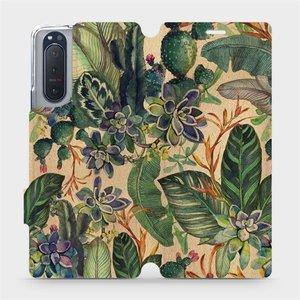 Flip pouzdro Mobiwear na mobil Sony Xperia 5 II - VP05S Sukulenty