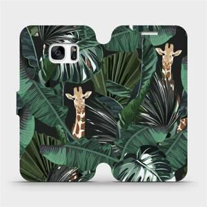 Flip pouzdro Mobiwear na mobil Samsung Galaxy S7 - VP06P Žirafky