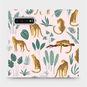 Flip pouzdro Mobiwear na mobil Samsung Galaxy S10 Plus - MP07S Leopardi