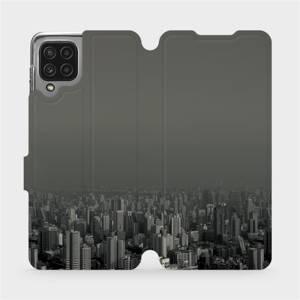 Flip pouzdro Mobiwear na mobil Samsung Galaxy M22 - V063P Město v šedém hávu