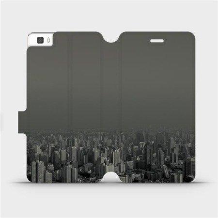 Flipové pouzdro Mobiwear na mobil Huawei P8 Lite - V063P Město v šedém hávu