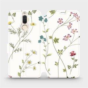 Flipové pouzdro Mobiwear na mobil Huawei Mate 10 Lite - MD03S Tenké rostlinky s květy