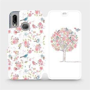 Flipové pouzdro Mobiwear na mobil Huawei P20 Lite - M120S Strom a ptáčci