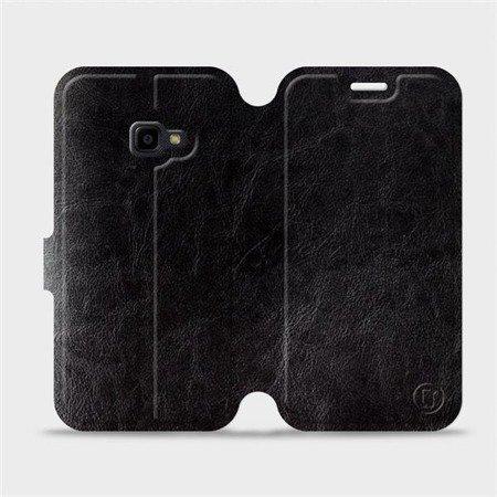 Parádní flip pouzdro Mobiwear na mobil Samsung Xcover 4 v provedení C_BLP Black&Orange s oranžovým vnitřkem