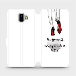Flipové pouzdro Mobiwear na mobil Samsung Galaxy J6 Plus 2018 - M046P Be yourself