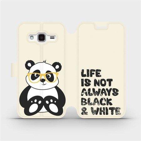 Flipové pouzdro Mobiwear na mobil Samsung Galaxy J3 2016 - M041S Panda - life is not always black and white