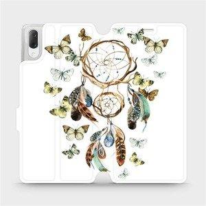 Flipové pouzdro Mobiwear na mobil Sony Xperia L3 - M001P Lapač a motýlci