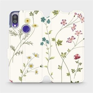 Flipové pouzdro Mobiwear na mobil Xiaomi Redmi Note 7 - MD03S Tenké rostlinky s květy