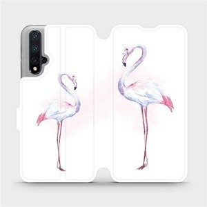 Flipové pouzdro Mobiwear na mobil Honor 20 - M005S Plameňáci