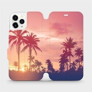 Flipové pouzdro Mobiwear na mobil Apple iPhone 11 Pro - M134P Palmy a růžová obloha